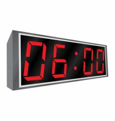 electronic alarm clock vector image vector image