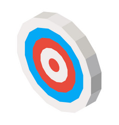Empty dartboard with blue and red lines 3d vector