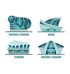 Facade architecture for soccer or football stadium vector
