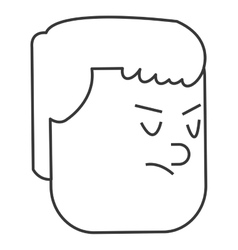 Face of disappointed man icon vector