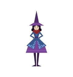 Fairytale witch drawing vector