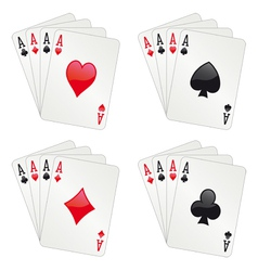 Four aces poker vector