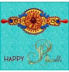 Greeting card for indian festive sisters and vector