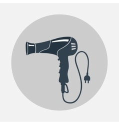 Hairdryer blow dryer two-pin plug icon vector image vector image