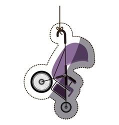 Isolatd baby stroller design vector