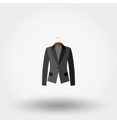 Jacket on a hanger icon vector