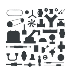 Machine parts vector image