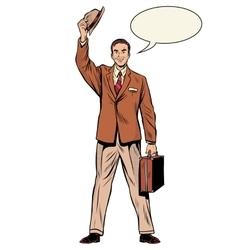 Man businessman salesman vector
