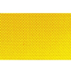 Metal holed grid background yellow hole vector image