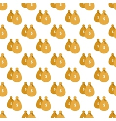 Money bags pattern seamless vector image