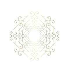 Ornate golden ornament for decoration vector image