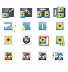 photography icons vector image vector image