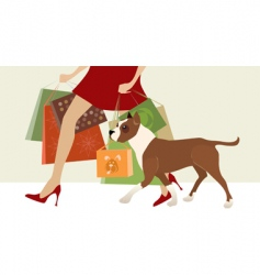shopping helper vector image vector image