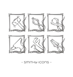 Smithy icons two vector