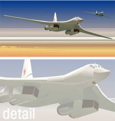 strategic bombers vector image vector image