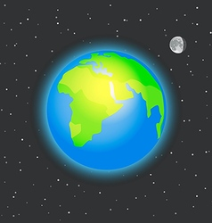 The earth in space vector