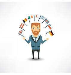 Translator with flags vector