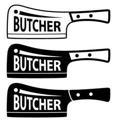 Butcher meat cleaver chopper symbol vector
