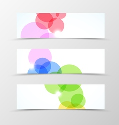 Set of header banner dynamic design vector