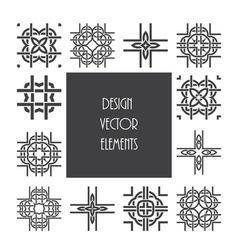 Celtic knot ornament design vector image