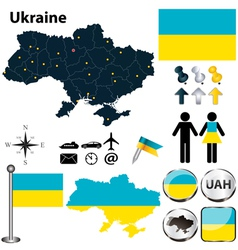 Map of ukraine vector