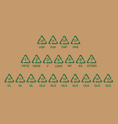 Recycling codes vector