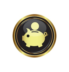 Copypig icon button gold copy vector