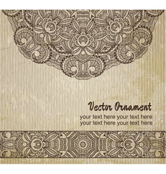 thnic vintage ornament background vector image