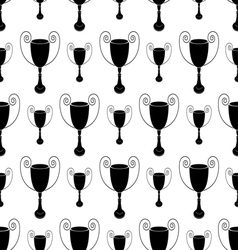 Seamless pattern with trophy vector