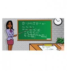 teacher crush vector image
