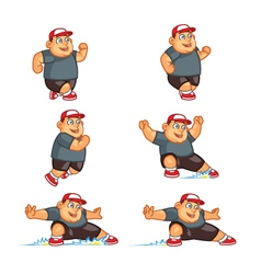 Fat boy sliding sprite vector