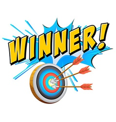 Winner vector image