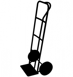 sack trolley vector image
