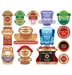 Label collection vector