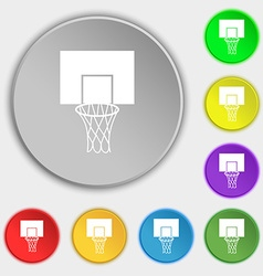 Basketball backboard icon sign symbol on eight vector