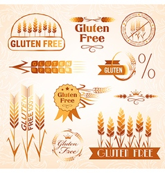 Gluten free design elements vector