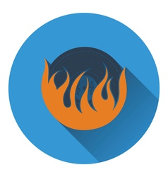 Flame vinyl icon vector