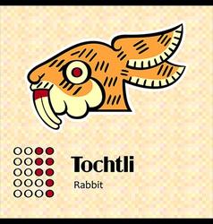 Aztec symbol tochtli vector