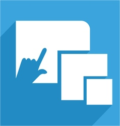 Touch icon vector