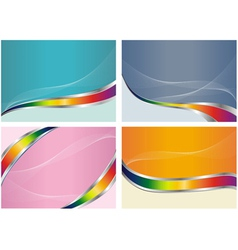 abstract color back set vector image vector image