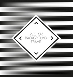 Background striped abstract with frame vector