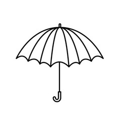 black silhouette with opened umbrella vector image vector image