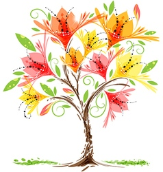 Blooming tree vector image vector image