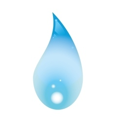 Blue drop icon Water design graphic vector image vector image