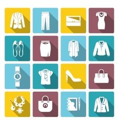 Businesswoman Clothes Set vector image vector image