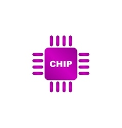 Chip icon vector