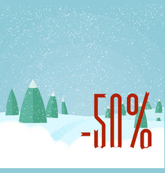 christmas sale card winter holidays vector image vector image