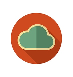 Cloud retro flat icon meteorology weather vector