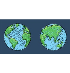 Global painting art vector