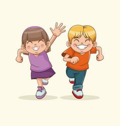 happy children day boy and girl sweet children vector image